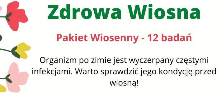 """Pakiet Wiosenny """"Zdrowa Wiosna"""""""